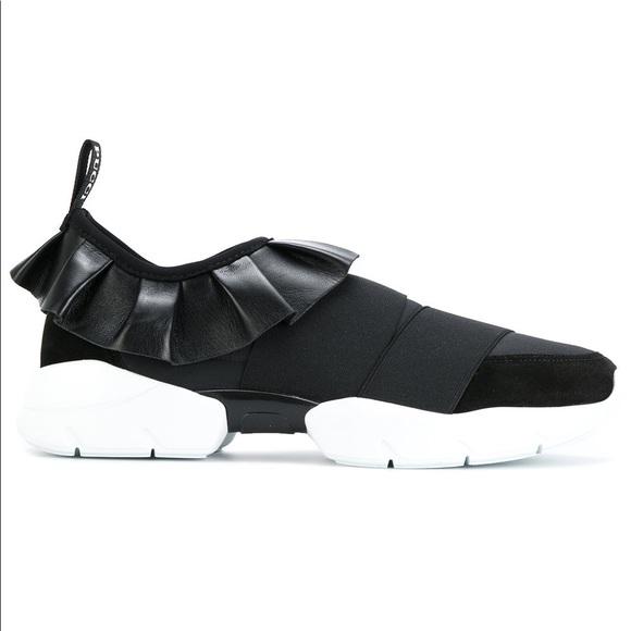 Emilio Pucci Ruffle Sneakers